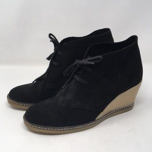 J crew |  MacAlister suede leather wedge booties